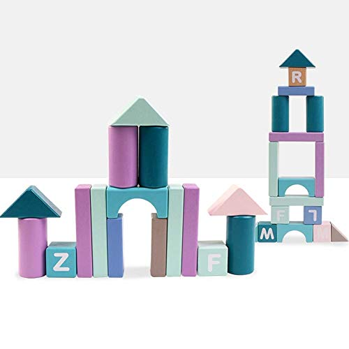 Great Deal! GGXX Stacking Blocks Wooden, Stacking Blocks for Toddlers 1-3, Non-Toxic Kids Indoor Out...