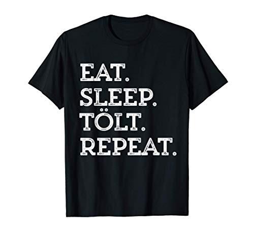 Islandpferd Eat Sleep Tölt Isländer Geburtstag Pony Grafik T-Shirt