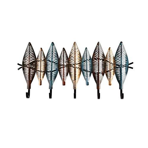 GANG Escudo Perchero Ganchos Montado en la Pared Escudo de Metal Estante Montado en la Pared de Altas Prestaciones Clave Hat Rack Soporte para Puerta de Entrada Habitación Sala Perc