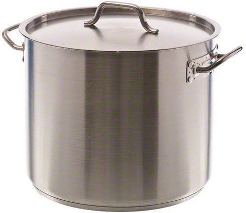 New Professional Commercial Grade 12 QT (Quart) Heavy-Gauge Stainless Steel Stock Pot, 3-Ply Clad Base, Induction Ready, With Lid Cover NSF Certified Item, Set of 3