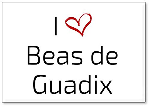 Mundus Souvenirs - Amo Beas de Guadix, Imán para Nevera (diseño 3)