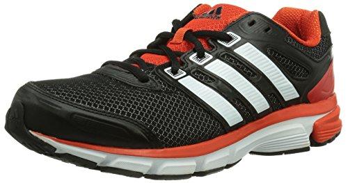 adidas Performance nova stability m Textile, Herren Laufschuhe, Mehrfarbig (Black 1 / Running White / Dark Orange), 46 EU (11 )