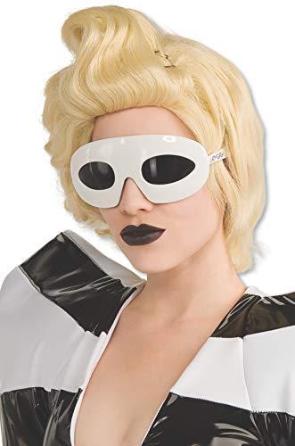 Lady Gaga Glasses,White,One Size