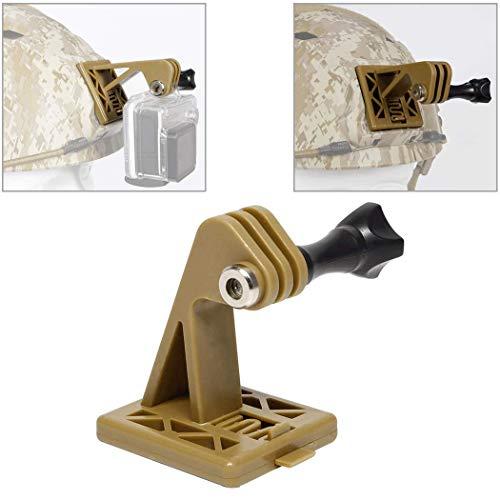 Aoutacc Tactical Helmet Accessories Camera Excavator Mounts para GoPro Helmet o NVG Helmet Base Soporte (Tan)