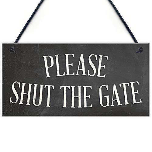 qidushop sluit de poort opknoping tuin muur hek huis deur houten teken ambachten voor woonkamer decoratieve