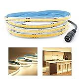 Arote COB LED Strip 24 V flexible LED tira de alta densidad 2 m 320 LEDs/m 640 LEDs blanco cálido 3000 K regulable LED banda IP20 para decoración interior TV Dormitorio LED Strip