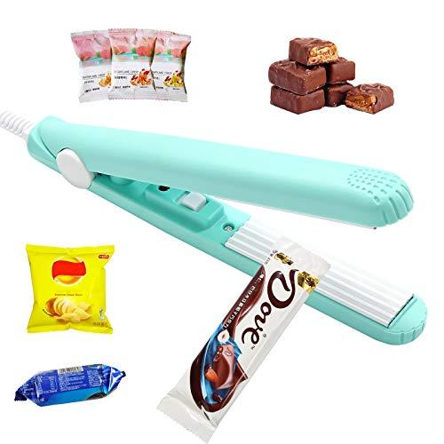 PLAZALA Mini Bag Sealer, Handheld Food Bag Heat Sealer for Food Storage, Portable Smart Heat Sealer Machine with 45'' Power Cable for Chip Bags, Plastic Bags, Snack Bags (Blue)
