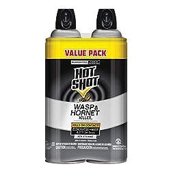 top 10 ultrakill wasp spray Hot Shot Wasp and Hornet Killer, 14 oz, aerosol, jet sprayer up to 27 feet, 2 packs