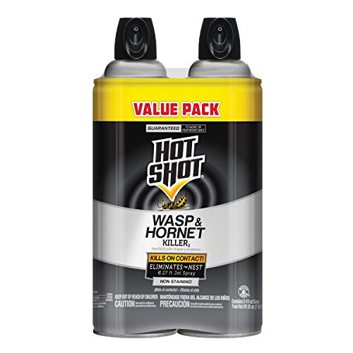 Hot Shot Wasp And Hornet Killer 14 Ounces, Aerosol, Up to 27-Foot Jet Spray, Pack of 2