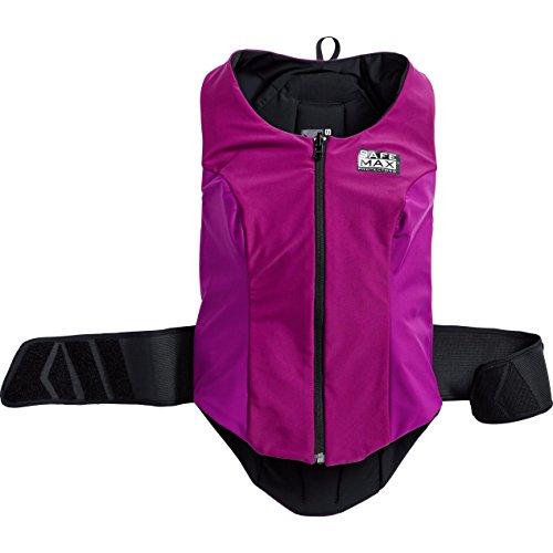 Safe Max® Protektorenweste Motorrad Herren und Damen Damen Wendeweste mit Rückenprotektor 1.0, Schutzkl.2 VIO. S, Multipurpose, Ganzjährig, Textil, violett