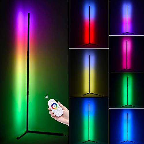 20W Moderna LED Lámpara de Pie RGB Regulable con Control Remoto Lámpara de Suelo Luz para Salón, Dormitorio y Oficina Decoración