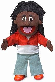 """14"""" Sierra, Black Girl, Hand Puppet"""