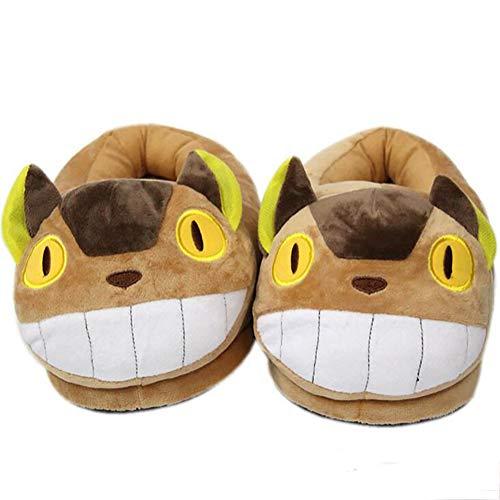 SHANGXIAN Winter Warm Paar Hausschuhe Zuhause Drinnen Plüsch Totoro Cosplay Hausschuhe Gemütlich Weicher Boden Schuhe,35~42(280mm)