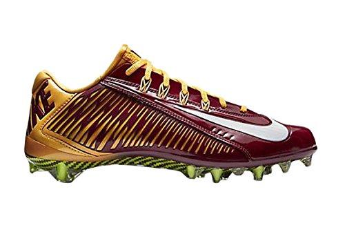 Nike Vapor Carbon Elite TD Mens Football Cleats (13 D(M) US, Purple/Black/Yellow)