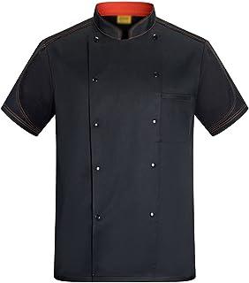 Sentao Chef Jacket, Chef Coat, Chef Uniform, Men Women, Short Sleeve, Cooking Hotel, White & Black&Blue Available, Sizes M...