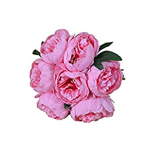 LZL Beautiful Peony Artificial Flower Fake Flower Hibiscus Wedding Hand Holding Decorative Flower Home Accessories (Color : Pink)