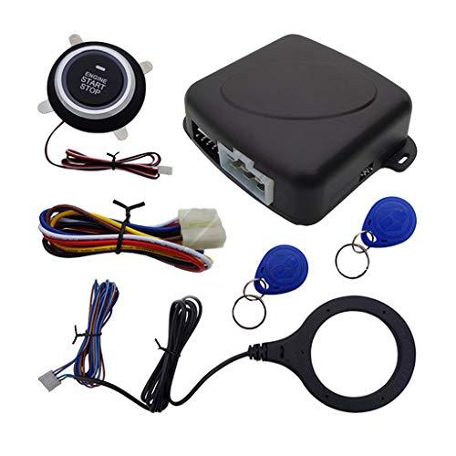 B Blesiya Sistema de Alarma de Arranque Del Motor de Entrada Sin Llave Del Coche Kit de Mando a Distancia con Botón de Arranque