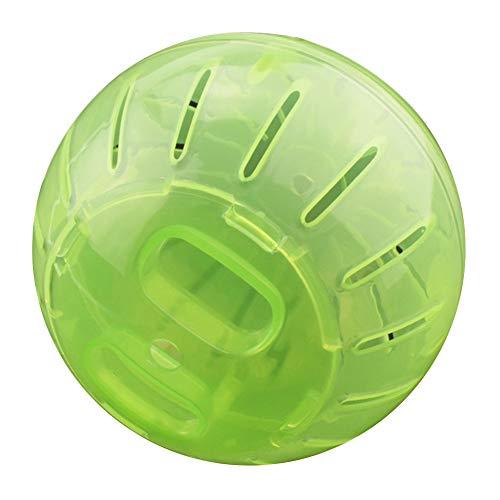 xueren Bola de hámster, Rueda para correr de hámster, Pet Rodent Mini Jogging Ejercicio Ball Hamster Plastic Clear Trot Ball Toy Alivia el aburrimiento y aumenta la actividad (12 cm)