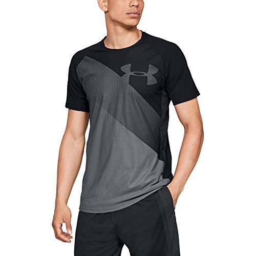 Under Armour Vanish Manches Courtes T-Shirt Homme, Black/Rhino Gray (001), FR (Taille Fabricant : XS)