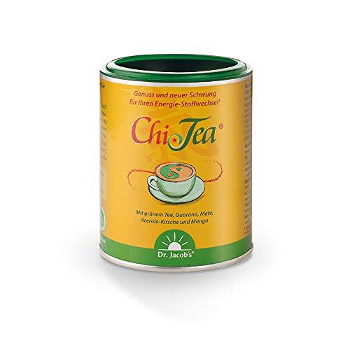 Chi-Tea 180 g Dose I Mit Grün- u. Matetee sowie grünem Kaffee I 12 wertvolle Pflanzenauszüge I Magnesium und Vitamine I Vegan, 72 Tassen