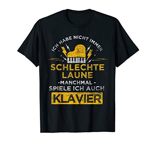Klavierspieler Geschenk Musik Piano Musikinstrument Klavier T-Shirt