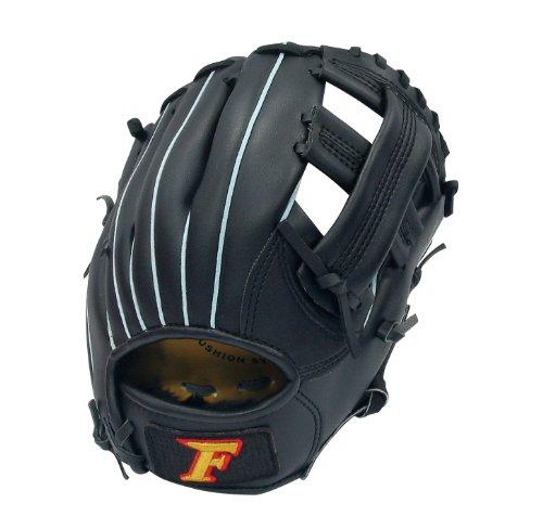 サクライ貿易(SAKURAI) FALCON ファルコン 野球グラブ グローブ 軟式少年 オールラウンド用 Jr-Sサイズ ブラック FG-251 身長130~145cm位 小学低・中学年向け