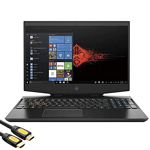 "HP OMEN 15 Gaming Laptop, 15.6"" FHD 144hz IPS Display, GeForce RTX 2070 Max-Q, Intel 6-Core i7-10750H, 16GB RAM, 512GB PCIe SSD+1TB HDD, Thunderbolt, RJ-45, Wi-Fi 6, RGB KB, Mytrix HDMI Cable, Win 10"
