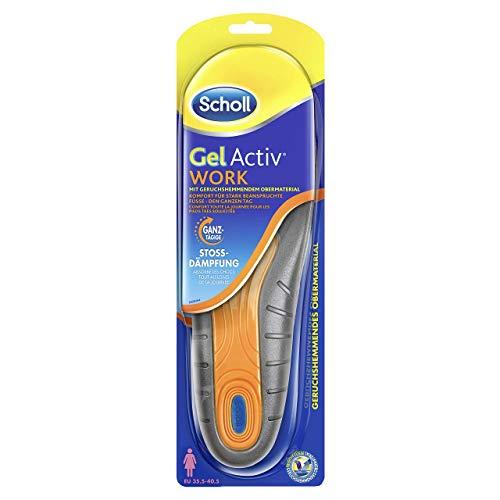 Scholl GelActiv Einlegesohlen Work für Arbeitsschuhe in 40-46,5 – Für stark beanspruchte Füße – 1 Paar Gelsohlen