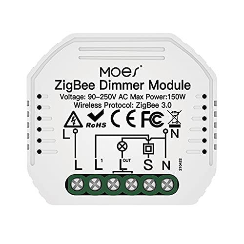 SOLE HOME Zigbee Dimmer Interruptor Mini Bricolaje Dimmer Interruptor Regulador Módulo Compatible con Alexa de Google Control de Voz de Vida Inteligente APP Zigbee Centro Requerida (1)