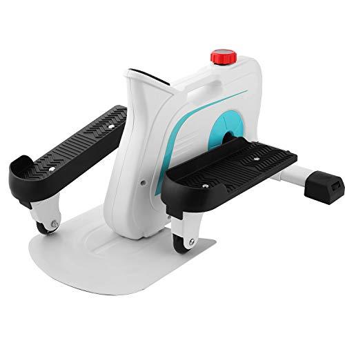 ANCHEER Mini Elíptica Mini Stepper Hometrainer 10 Niveles de Resistencia Ajustables//Pantalla LCD Stepper de apartamento portátil/Máquina de Ejercicios para Oficina Hogar, Carga MAX 110 kg (Blanco)