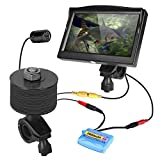 Underwater Fishing Camera, Anyota Portable Fish Finder Handheld 5 inch Monitor and Cam Set HD 1000TVL 8pcs IR Infrared LED Waterproof 15M Cable