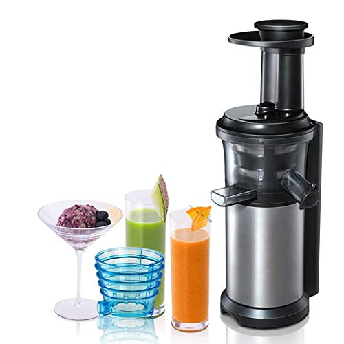 ASDF Cold Press Juicer Fruit Smoothie Machine, Stainless Steel Whole Slow Masticating Juicer Machine, for Whole Fruit and Vegetables