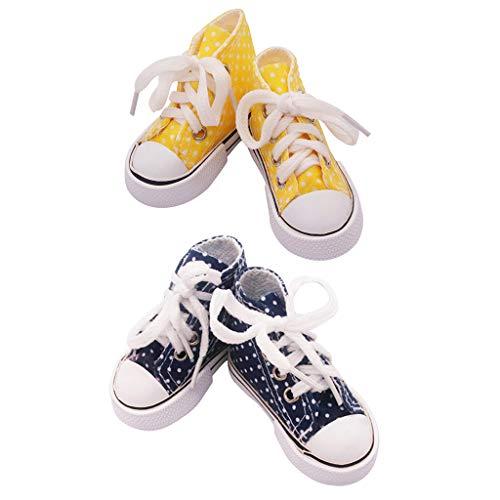 Milageto 2 Pares de Zapatos de Lona con Cordones Y Punta de 2.95 '1/3 Puntos Conjunto de Vestir B&Y
