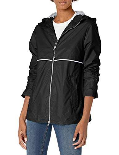 Charles River Apparel womens New Englander Wind & Waterproof Rain Jacket, Black, M