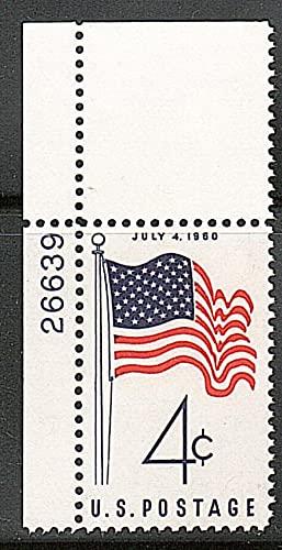 FGNDGEQN Colección de Sellos Estados Unidos 1960 50 Estrellas Bandera Sello 1 Completo / Digital Ming