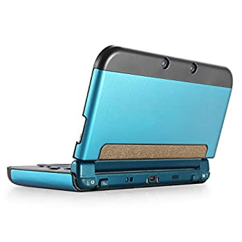 TNP Case Compatible with [ NEW Nintendo 3DS XL LL 2015 ] Light Blue - Plastic + Aluminum Full Body Protective Snap-on Hard Shell Skin Case Cover New Modified Hinge-less Design