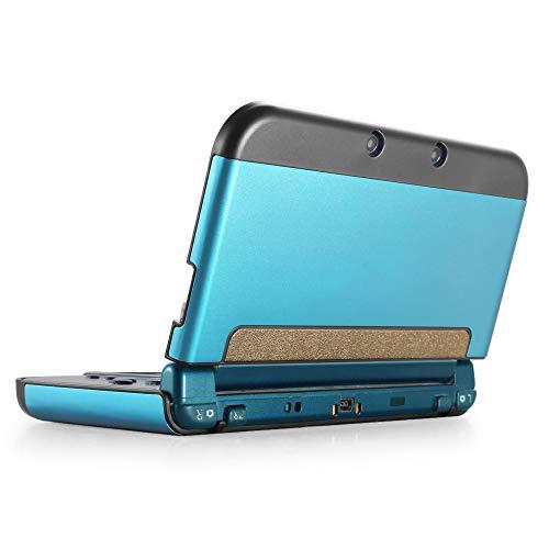 TNP Custodia Protettiva in Plastica Alluminio per Corpo Intero per New Nintendo 3DS XL LL 2015 in Pelle Rigida Protettiva Switch Giochi Accessori Console Videogiochi Protezione Lite Case Blu Leggero