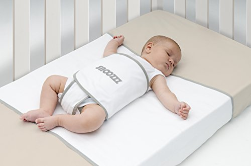 Snoozzz Sleep positioner Baby Reflux Support Anti roll Pillow - Swaddle Flat Head Syndrome aid - snoozepod Snuggle Sleepy pod - Regular