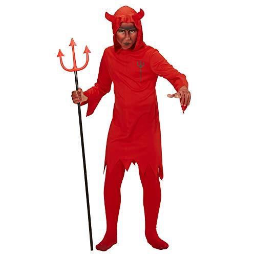 Widmann 58988 - Kinderkostüm Teufel, Tunika mit Kapuze, Dämon, Höllenfürst, Halloween, Karneval, Mottoparty
