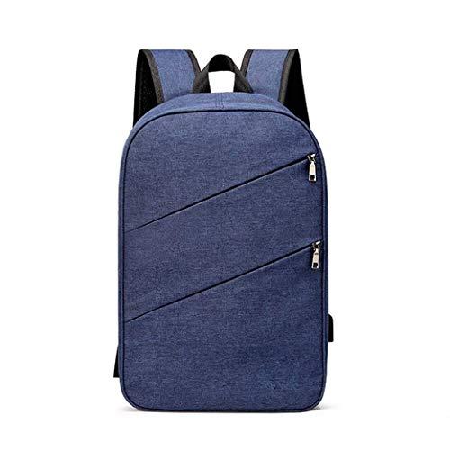 Backpack 15.6-inch Laptop Backpack Waterproof Schoolbag, Outdoor Travel Bag (Color : Blue)