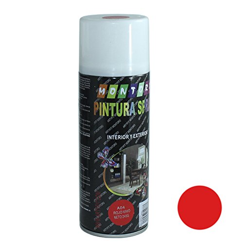 Montoro - Bote de Pintura en Spray Rojo Vivo A04 400 ml
