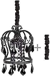 Tadpoles Crown Chandelier, Black