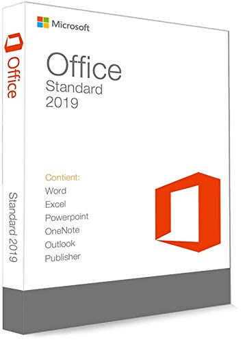 Microsoft Office 2019 Standard 32/64 Bit - (clé de produit)