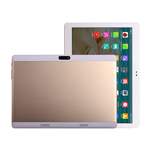 Gold Android 7.0 Tablet PC Octa Core Fire 10 inch HD Display 2560x1600 4G Phone Call Tablets 4GB RAM 64GB Dual SIM Card 8.0MP WiFi Bluetooth Tablet PC