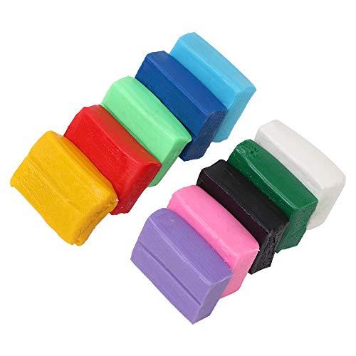 Arcilla seca al aire, arcilla polimérica de 10 colores Kit DIY Horno creativo Moldeado de arcilla para niños El mejor regalo para niños