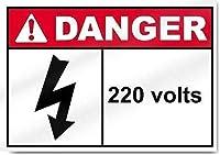 2個 危険220Voitsブリキサイン金属プレート装飾サイン家の装飾プラークサイン地下鉄金属プレート8x12インチ メタルプレートブリキ 看板 2枚セットアンティークレトロ