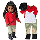 Equestrian Horse Riding Doll Outfit (6 Piece Set) - Premium Handmade Clothes & Accessories...