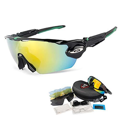 OPEL-R Gafas de Ciclismo de Deportes al Aire Libre, Gafas MTB Polarizadas a Prueba de Viento para Bicicletas PC Casual Beach Oakley Jawbreaker Sunglasses Contiene 5 Tipos de Lentes,2SUBSECTION