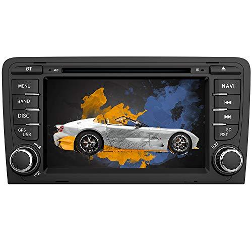 AWESAFE Radio Coche 7 Pulgadas con Pantalla Táctil 2 DIN para Audi A3/S3/RS3 2006-2012, Autoradio con Bluetooth/GPS/FM/RDS/CD DVD/USB/SD/RCA, Apoyo Mandos Volante, Mirrorlink y Aparcamiento