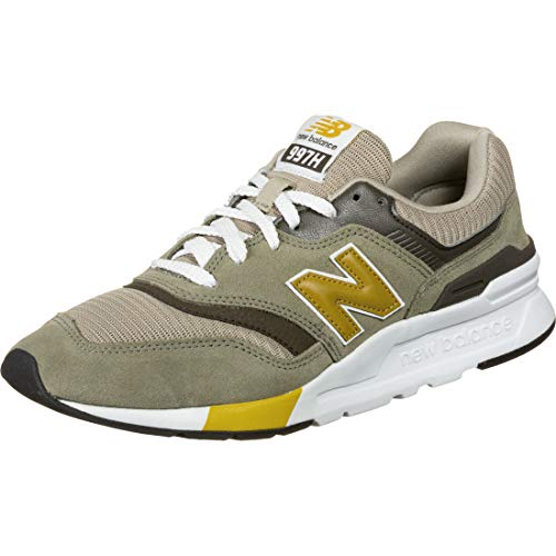 New Balance Herren 997h h Sneaker, Grün (Green/Gold Hez), 44.5 EU